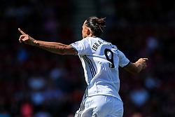 Zlatan Ibrahimovic of Manchester United celebrates scoring a goal to make it 0-3 - Rogan Thomson/JMP - 14/08/2016 - FOOTBALL - Vitality Stadium - Bournemouth, England - Bournemouth v Manchester United - Premier League Opening Weekend.