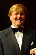 Uitreiking Koning Willem 1 Prijs in theater Diligentia in den Haag.<br /> <br /> Presentation of the King Willem 1 award for best inovating company in the Hague.<br /> <br /> Op de foto/ On the photo <br />  Prince Willem Alexander