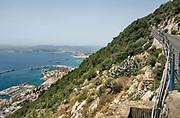 Spanje, Gibraltar, 25-9-2017Zicht op de haven en de dokken. De rots is een historisch en strategisch punt. Geschiedenis, koude oorlog.Britse kroonkolonie. Spanje wil de rots terug.Foto: Flip Franssen