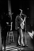 Fall River, Massachusetts - 18 February 1968. Frank Zappa and The Mothers of Invention in performance at the Durfee Theater.. Behind Zappa on stage is Ray Collins. © Ed Lefkowicz 2020<br /> <br /> For licensing of any of the images in this portfolio go to https://www.mptvimages.com/<br /> <br /> For fine art prints, get in touch with me directly.