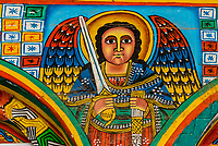 Frescoes, Saint Yared Church (Ethiopian Orthodox Church), Axum (Aksum), Ethiopia.