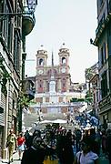 Spanish Steps, Scalinata di Trinità dei Monti, Rome, Italy in 1974