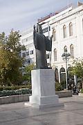 Statue of Archbishop Damaskinos Papandreou (March 3, 1891 - May 20, 1949), Athens, Greece