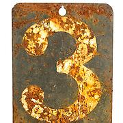 Damaged number 3 plate