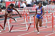 Kendra Harrison (USA) wins the 100m Hurdles Women final during the Muller Anniversary Games at the London Stadium, London, England on 9 July 2017. Photo by Jon Bromley.