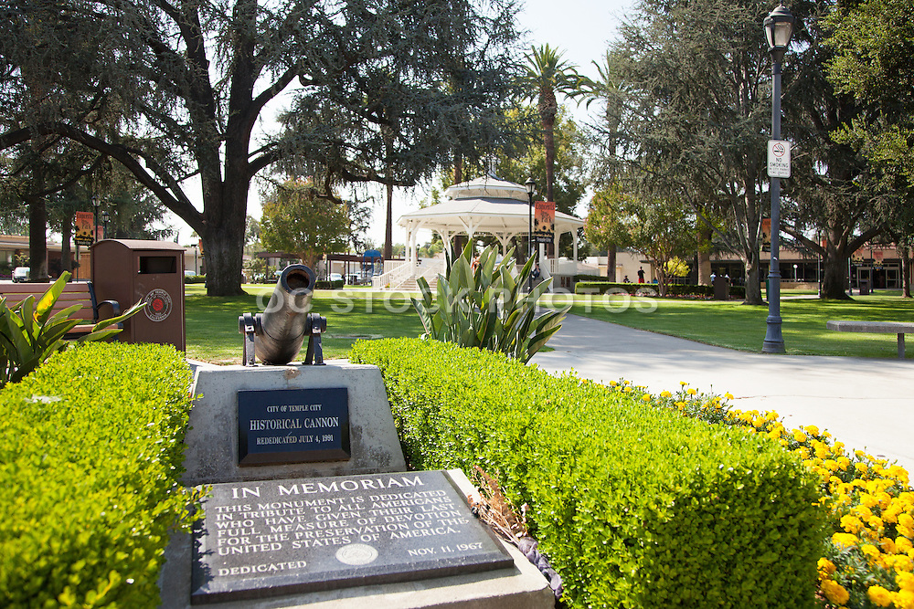 Historical Cannon Monument at Live Oak Park in Temple City