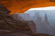 Washer Woman Arch seen through Mesa Arch in Canyonlands National Park, Utah. Picture by Andrew Tobin.