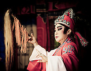 Taiwanese opera performer from the Xin Ing Feng Opera Group. Originating in eastern Taiwan in the late 19th century, Taiwanese folk opera is part of the southern variations of Chinese opera. As the only form of Han traditional drama to have come from Taiwan, it was started by immigrants from Fujian, China and told folk stories of the region. While its popularity has declined in the modern era, it still plays an important role in Taiwanese culture.
