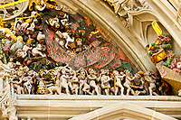 The Last Judgment, above the entrance to the Munster (Cathedral of Bern), Bern, Canton Bern, Switzerland