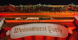 22.01.2016, Tenne, Kitzbuehel, AUT, FIS Weltcup Ski Alpin, Kitzbuehel, Weisswurstparty, im Bild ein Schiild am Eingang// during the Weisswurstparty of Kitzbuehel FIS Ski Alpine World Cup at the Tenne in Kitzbuehel, Austria on 2016/01/22. EXPA Pictures © 2016, PhotoCredit: EXPA/ Jakob Gruber