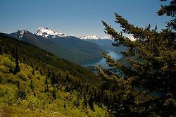 Jack Mountain and Ross Lake from Desolation Peak Trail, North Cascades National Park, Washington, US