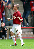 Photo: Dave Linney.<br />Walsall v Mansfield Town. Coca Cola League 2. 30/09/2006Walsall's .Dean Keates celebrates after making it 3-0 to Walsall.