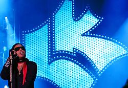 Lenny Kravitz durante show no estádio Olímpico, em Porto Alegre. A primeira apresentação no Brasil, faz parte da turnê latino-americana Celebrate. Com 15 anos de carreira, Lenny Kravitz é um dos maiores hit-makers da atualidade e já vendeu 24 milhões de discos. A turnê Celebrate reúne as principais canções do artista. Foto: Jefferson Bernardes/Preview.com