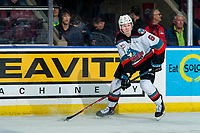 KELOWNA, BC - FEBRUARY 17: Kaedan Korczak #6 of the Kelowna Rockets skates with the puck during first period against the Calgary Hitmen at Prospera Place on February 17, 2020 in Kelowna, Canada. Korczak was selected in the 2019 NHL entry draft by the Vegas Golden Knights. (Photo by Marissa Baecker/Shoot the Breeze)