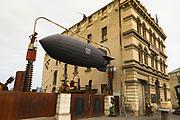 Zeppelin at the Steampunk Headquarters, Oamaru, Otago, South Island, New Zealand