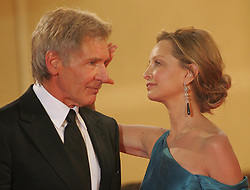 Harrison Ford and Calista Flockhart arriving at the Palais des Festivals in Cannes for the screening of Steven Speilberg's Indiana Jones and the Kingdom of the Crystal Skull at the 61st Cannes Film Festival.