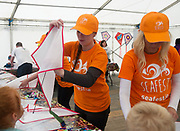 02/07/2017 REPRO FREE Kite making at Seafest 2017, the National Maritime Festival which rran at the weekend  in Galway.<br /> . Photo:Andrew Downes, xposure .