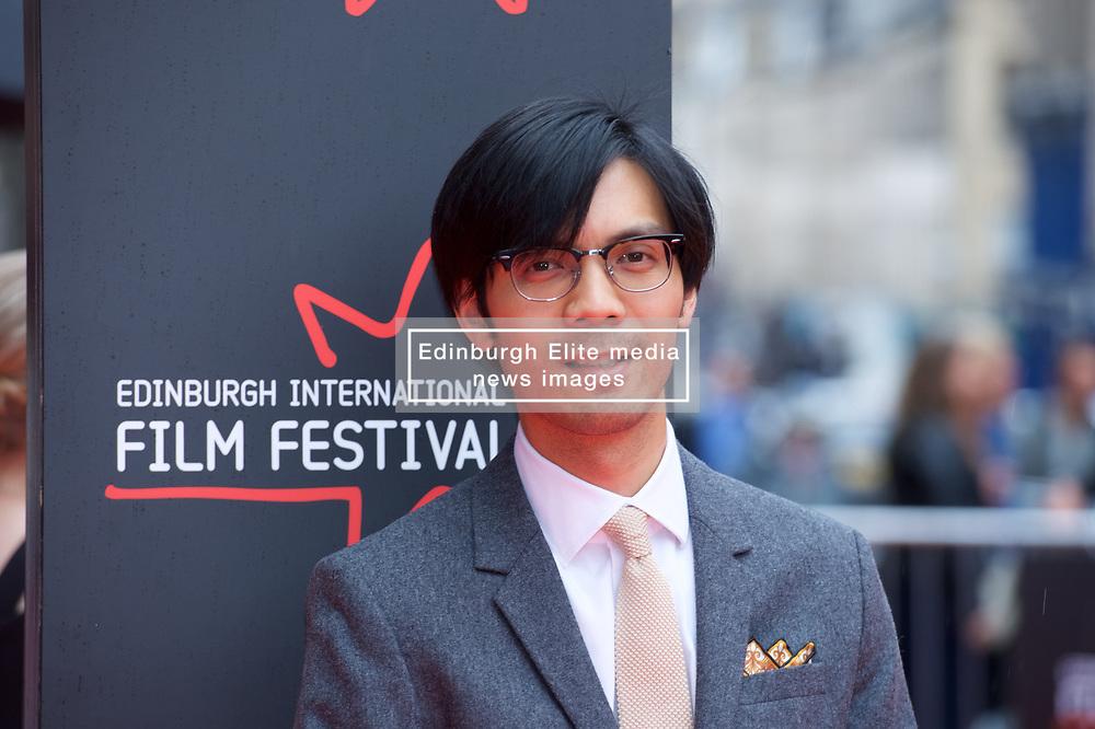 "Baldwin Li, on the red carpet at the Edinburgh International Film Festival world Premier of ""England is Mine"" at Edinburgh's Festival Theatre. Sunday, 2nd July, 2017(c) Brian Anderson   Edinburgh Elite media"
