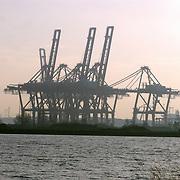 Kranen westelijk havengebied Amsterdam