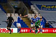 CELE Birmingham City's Ivan Sanchez (17) celebrates scoring his side's second goal during the EFL Sky Bet Championship match between Cardiff City and Birmingham City at the Cardiff City Stadium, Cardiff, Wales on 16 December 2020.