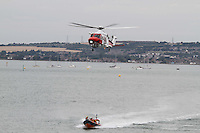 UK Maritime and Coastguard Agency Augusta Westland 139; Air Sea Rescue Navy Days Portsmouth Naval Base, UK, 30 July 2010: For piQtured Sales contact: Ian@Piqtured.com +44(0)791 626 2580 (Picture by Richard Goldschmidt/Piqtured)
