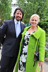 LAURENCE LLEWELLYN BOWEN and his wife JACKIE at the 2012 RHS Chelsea Flower Show held at Royal Hospital Chelsea, London on 21st May 2012.