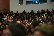 HARLEM, NEW YORK-DECEMBER 9: Audience listen to  Designer Dapper during his talk for the Heritage Series held at the Schomburg Center, a part of the New York Public Library on December 9, 2019 in Harlem, New York City.   (Photo by Terrence Jennings/terrencejennings.com)