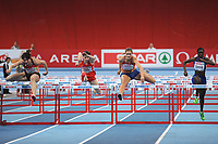 ATHLETICS - INDOOR EUROPEAN CHAMPIONSHIPS PARIS-BERCY 2011 - FRANCE - DAY 1 - 04/03/2011 - PHOTO : PHILIPPE MILLEREAU / DPPI - <br /> WOMEN'S 60 M HURDLES - WINNER - CAROLIN NYTRA (GER) - THIRD PLACE - CHRISTINA VUKICEVIC (NOR)