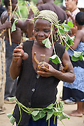 A village of Batwa (or Twa) tribe of pygmies in the Semliki Forest, western Uganda