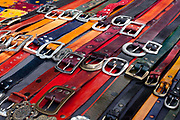 Belts, San Telmo market, Buenos Aires, Federal District, Argentina.