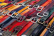 Belts, San Telmo market, Buenos Aires, Federal District, Argentina.