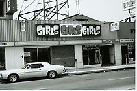 1975 Girls Girls Girls Adult Parlor on Hollywood Blvd.