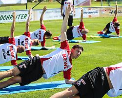 02.07.2013, Dana Arena Windischgarsten, WIndischgarsten, AUT, GER 2. FBL, Trainingslager 1. FC Koeln, im Bild Kevin Wimmer, (1. FC Koeln, #28) und Kollegen beim Aufwaermen // during the training Camp of the German Bundesliga Club 1. FC Koeln at the Dana Arena Windischgarsten, Windischgarsten, Austria on 2013/07/02. EXPA Pictures © 2013, PhotoCredit: EXPA/ Roland Hackl