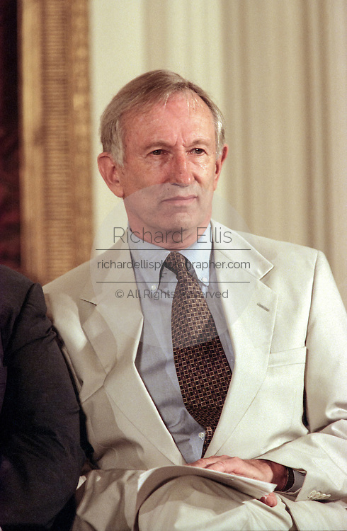 US Senator Jim Jeffords during the signing ceremony for the Higher Education Act in the East Room of the White House October 7, 1998 in Washington, DC.
