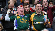 Scottish fan celebrating taking the lead against Australia during the Rugby World Cup Quarter Final match between Australia and Scotland at Twickenham, Richmond, United Kingdom on 18 October 2015. Photo by Matthew Redman.