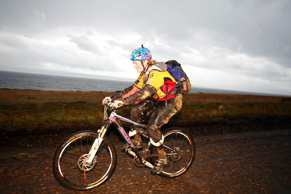 Nicola Macleod of the British Team Helly Hansen Prunesco mountain biking in Patagonia, Chile, South America while competing in the 2009 Wenger Patagonia Expedition Race. .Copyrighted work .Permission must be sought before use of this image..Alex Ekins .0114 2630277.07901883 994