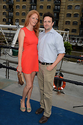 The Johnnie Walker Gold Label Reserve Party aboard John Walker & Sons Voyager, St.Georges Stairs Tier, Butler's Wharf Pier, London, UK on 17th July 2013.<br /> Picture Shows:-Olivia Inge, Peter Davies.