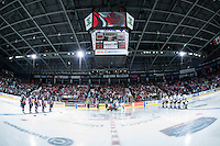 KELOWNA, CANADA - APRIL 4: Kamloops Blazers visit the Kelowna Rockets for game 7 of round 1 of WHL playoffs on April 4, 2016 at Prospera Place in Kelowna, British Columbia, Canada.  (Photo by Marissa Baecker/Shoot the Breeze)  *** Local Caption ***