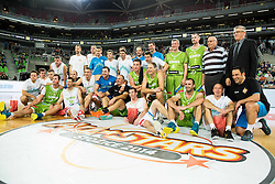 Group Photo during basketball match between Slovenian football and basketball Legends at All-Stars Stozice 2014, on December 28, 2014 in Arena Stozice, Ljubljana, Slovenia. Photo by Vid Ponikvar / Sportida
