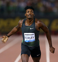 May 31, 2018 - Rome, Italy - Fred Kerley (USA) competes in 400m men during Golden Gala Iaaf Diamond League Rome 2018 at Olimpico Stadium in Rome, Italy on May 31, 2018. (Credit Image: © Matteo Ciambelli/NurPhoto via ZUMA Press)