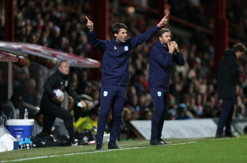 Huddersfield Town manager Danny Cowley<br /> <br /> Photographer Rob Newell/CameraSport<br /> <br /> The EFL Sky Bet Championship - Brentford v Huddersfield Town - Saturday 2nd November 2019 - Griffin Park - Brentford<br /> <br /> World Copyright © 2019 CameraSport. All rights reserved. 43 Linden Ave. Countesthorpe. Leicester. England. LE8 5PG - Tel: +44 (0) 116 277 4147 - admin@camerasport.com - www.camerasport.com