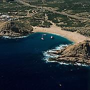 Aewrial shot of Santa Maria Bay.Los Cabos, BCS. Mexico.