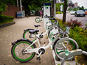 08 JUNE 2018 - SEOUL, SOUTH KOREA: Rental bikes in Seoul.     PHOTO BY JACK KURTZ