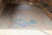Cosmology mosaic at Casa del Mitreo Roman villa site, Merida, Extremadura, Spain