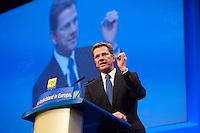 17 JAN 2009, BERLIN/GERMANY:<br /> Guido Westerwelle, FDP Bundesvorsitzender, haelt eine Rede, Europaparteitag der FDP, Estrel Convention Center<br /> IMAGE: 20090117-01-044<br /> KEYWORDS: party congress, speech