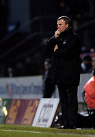 Photo: Jed Wee.<br />Bradford City v Swansea City. Coca Cola League 1. 14/01/2006.<br />Swansea manager Kenny Jackett muses a second half turnaround after his side dominated the first half.