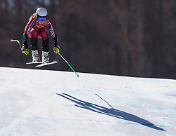 February 17, 2018 - PyeongChang, South Korea - RONI REMME of Canada during Alpine Skiing: Ladies Super-G at Jeongseon Alpine Centre at the 2018 Pyeongchang Winter Olympic Games. (Credit Image: © Patrice Lapointe via ZUMA Wire)