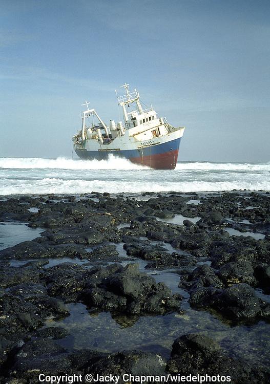 Shipwreck off the coast of Kenya Africa