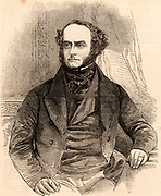 Lord George Frederick Cavendish-Scott-Bentinck, known as Lord George Bentinck (1802-1848). English Conservative statesman.  Engraving from 'The Illustrated London News' (London, 1848).