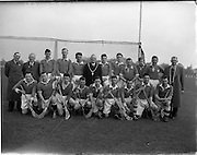 18/04/1953<br /> 04/18/1953<br /> 18 April 1953<br /> Naval Services v Dublin Port and Docks at Phoenix Park, Dublin. Dublin Port and Docks Team.